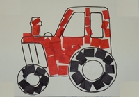 Babies and Toddlers Craft Picture Tractor